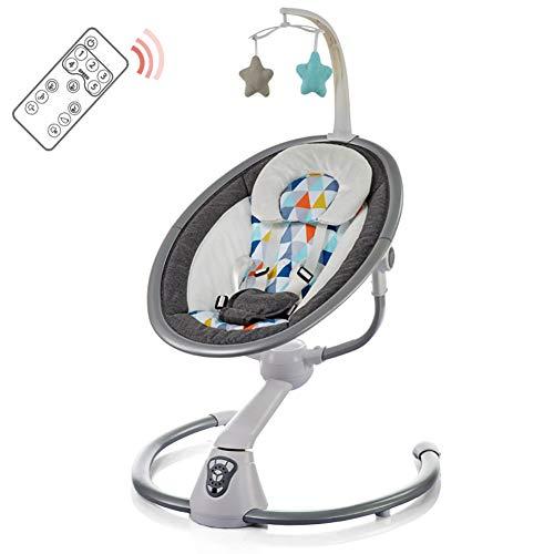 Wwyaoyi Mecedora automática para bebés,Cuna eléctrica Inteligente,Calmando el artefacto del bebé,Columpio Seguro para bebés