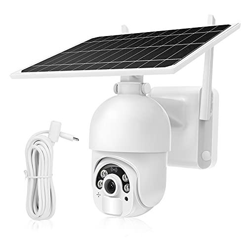 MPW Caméra Surveillance WiFi Extérieure Solaire,14400mah Batterie Rechargeable,Caméra de Surveillance sans Fil Détection Humaine,1080p IP Caméra Vision Nocturne,Audio Bidirectionnel IP66 Étanche