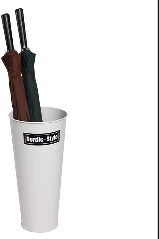 MYQ Iron Umbrella Stand, Umbrella Storage Bucket, for Home Office Umbrella Stand, 3 colors (Black, Red, White) 18.5''×8.6''×5.9'' Hallway Umbrella Stand (color   White2 )