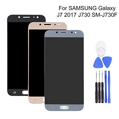 CplaplI Pantalla LCD digitalizador de Pantalla táctil para Samsung Galaxy J7 2017 J730 SM-J730F Azul