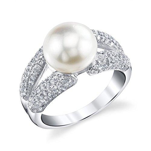 The Pearl Source   925  argento  Rotonda Coltivate in acqua dolce  Perla