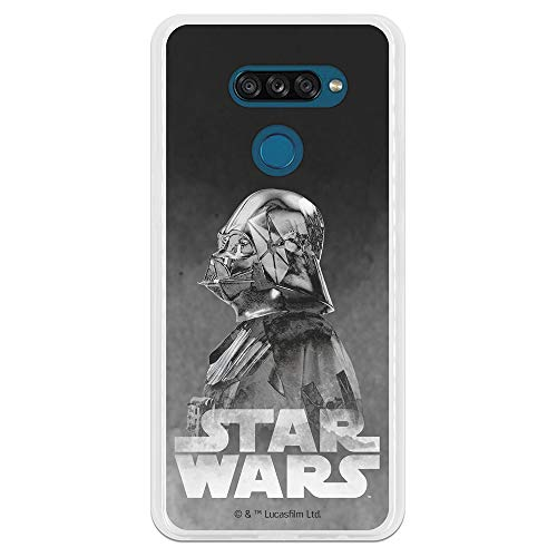 Funda para LG K50S Oficial de Star Wars Darth Vader Fondo Negro para Proteger tu móvil. Carcasa para LG de Silicona Flexible con Licencia Oficial de Star Wars.