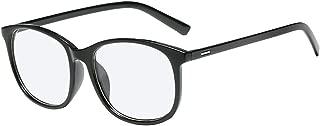 BOZEVON Women Glasses - Black Oval Lightweight Frame Classic Vintage Clear Lenses Non Prescription Retro Glasses Men Women Fashion Eyewear