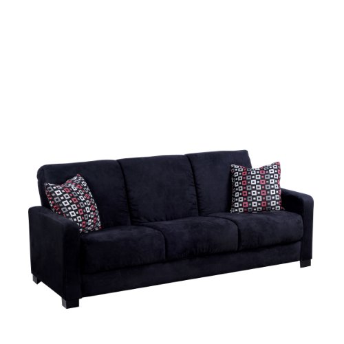 Hot Sale Handy Living CAC1-S54-AAA19 Convert-a-Couch Black Microfiber