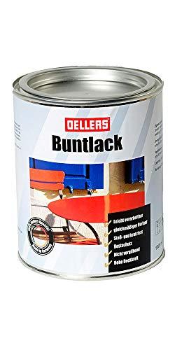 Buntlack | Metalllack | wirksamer Metallschutzlack | glänzende Metallfarbe | Decklack | Metallschutzfarbe mit hoher Deckkraft | 1 Liter RAL 6009 Tannengrün
