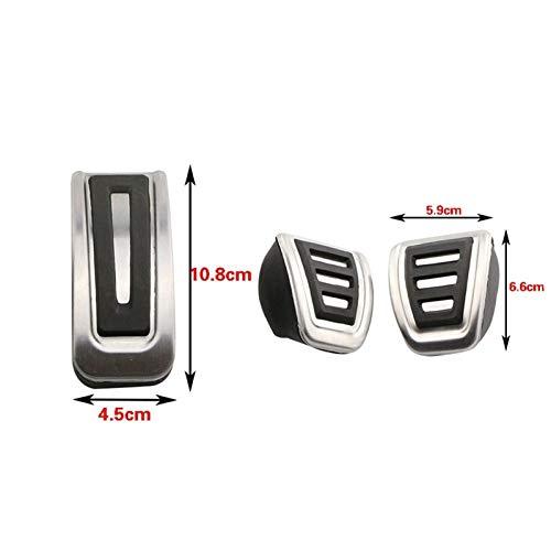 GAOLILI Stainless Steel Car Kupplungs Gas Bremspedale Abdeckung for Seat Arosa Ibiza...