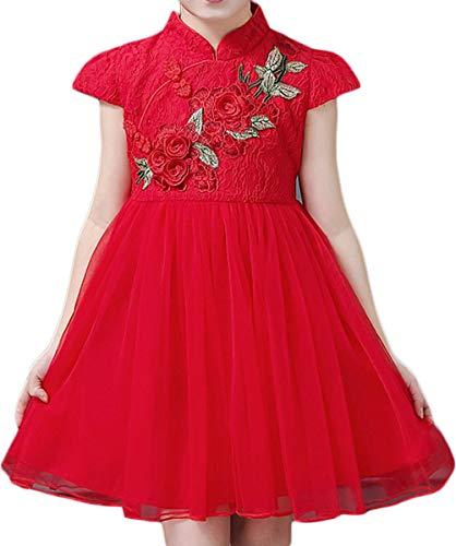 DarkCom meisjes jurk kind kostuum China wind rood