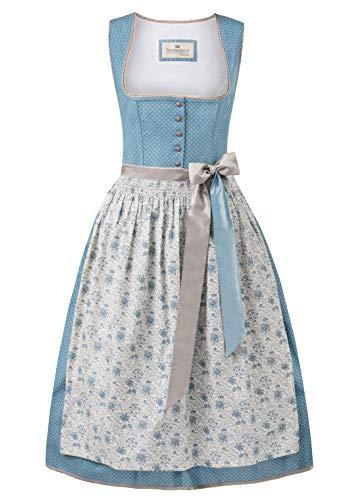Stockerpoint Damen Dirndl Adele Kleid für besondere Anlässe, Rauchblau, 34