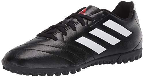 adidas Men's Goletto VII Turf Soccer Shoe, Black/White/Red, 10