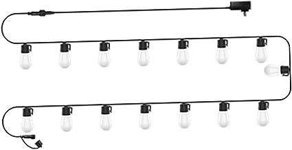 Baoblaze Lâmpada de 49 pés e 15 lâmpadas LED de corda para jardim, pátio, luzes de fadas penduradas no quarto, decoração d...