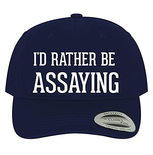 BH Cool Designs I'd Rather Be Assaying - Men's Soft & Comfortable Dad Baseball Hat Cap, Navy, One Size