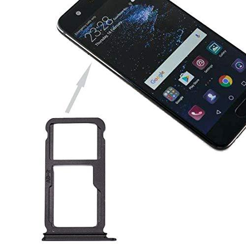 Tapa de la Bandeja de la Tarjeta SIM Pieza de reemplazo de la Ranura para Huawei P10 Plus, SIMULACIÓN Bandeja de Tarjetas Y SIM/Micro Dakota del Sur Bandeja de Tarjetas (Negro) (Color : Black)