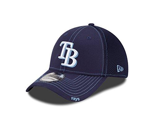 MLB Tampa Bay Rays Neo Fitted Baseball Cap, Light Navy, Small/Medium