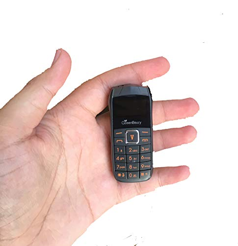 GreenBerry Nano Dual SIM Mini Phone with SPY Camera (Black)