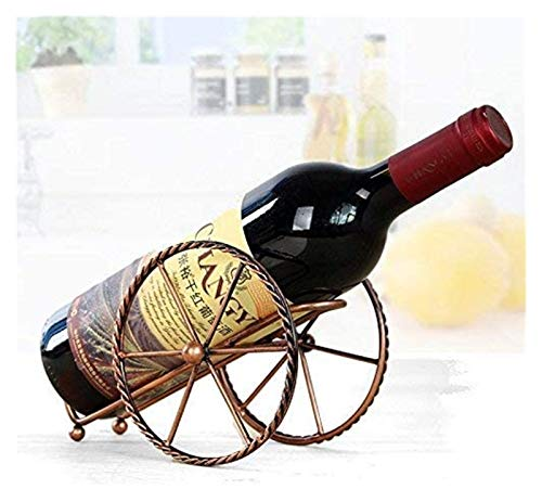 Vibiu Estilo Europeo Creativo Metal Decoración de vitulaciones de vinos de Hierro Forjado Adornos de Rack de Vino Único Botella de Vino.