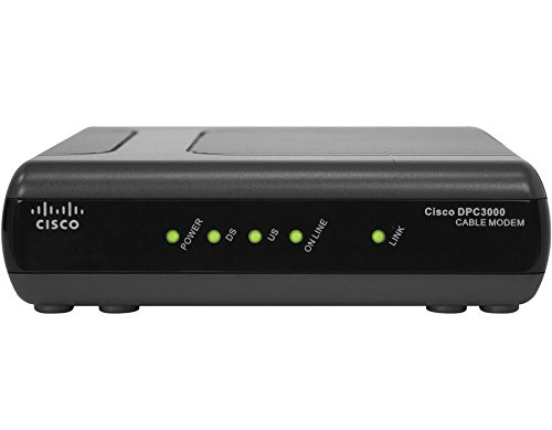 Cisco DPC3000 DOCSIS 3.0 Cable Modem (Not compatible with Comcast)