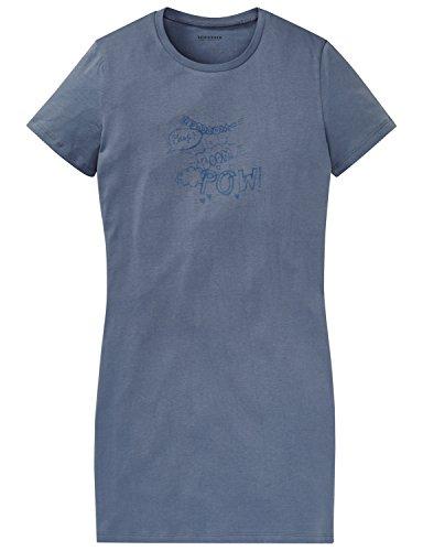 Schiesser Mädchen Nachthemd Sleepshirt 1/2, Blau (Jeansblau 816), 152 (Herstellergröße S)