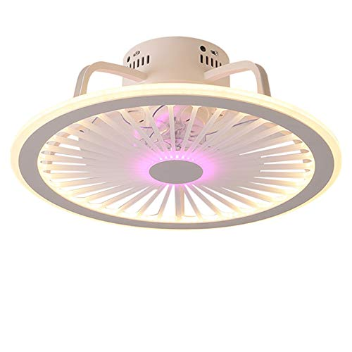 VOAOV Ventilador de Techo con Luz, Plafón De Techo LED Regulable con Control de App y Control Remoto, 3 Velocidades de Viento, Fan Lámpara Silenciosa para Dormitorio, Oficina, Salón, Comedor