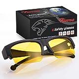 SAFEYEAR Gafas de Conducción Nocturna Antideslumbrantes Cubregafas - Gafas de Visión...
