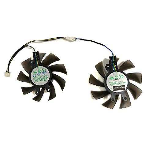2Pcs/set P106 GPU Fan 75MM GA82S2H For Gainward GTX 1060 Chasing version KFA2 GTX 1060 GALAX GTX1060 Card Cooling As Replacement