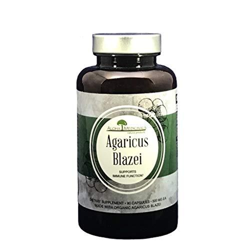 Aloha Medicinals Pure Agaricus Blazei 500 mg 90 Vegetarian Capsules Certified Organic