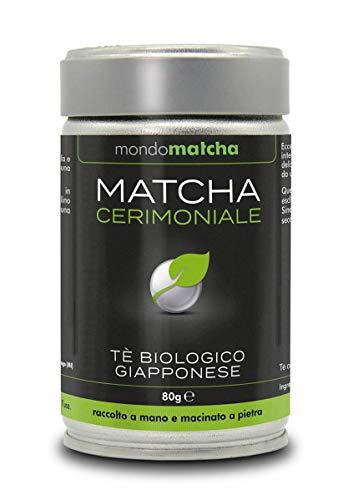 Tè Verde Matcha Bio Giapponese - Grado Cerimoniale dal 1° Raccolto di Primavera per Estimatori - dai Pregiati Giardini del Tè di Kagoshima, Raccolto a Mano, Macinato a Pietra - 80g Organic mondomatcha