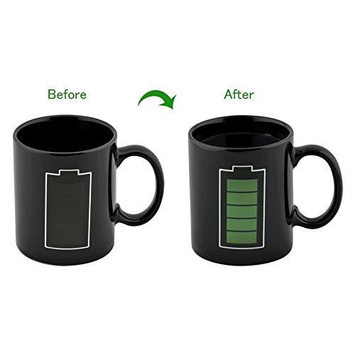 Cozyswan Porcelain Mug Mit Batterie Morph Kaffee Getränkewärmeempfindlicher Farbwechsel Becher Große Cup