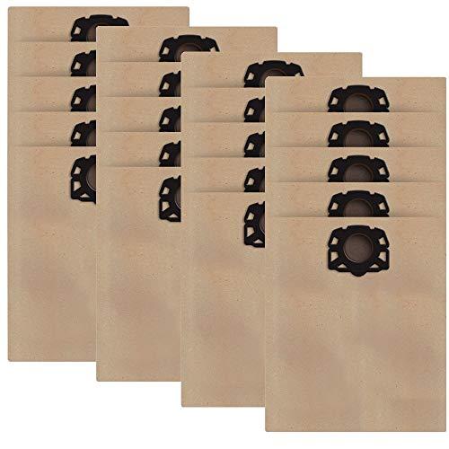 20-Pack Papierfiltertüten für Karcher WD4 WD5 WD5 / P Staubfilterbeutel für Kärcher Cleaner MV4 / MK5 / MV6...