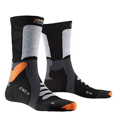 X-Socks X-Country Race 4.0 Invierno Calcetines De Esquí, Hombre, Black/Stone Grey Melange, 35/38