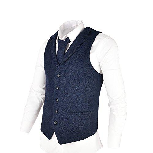 Spring Notion Big Boys' Four Buttons Suit Vest Waistcoat 06 Navy