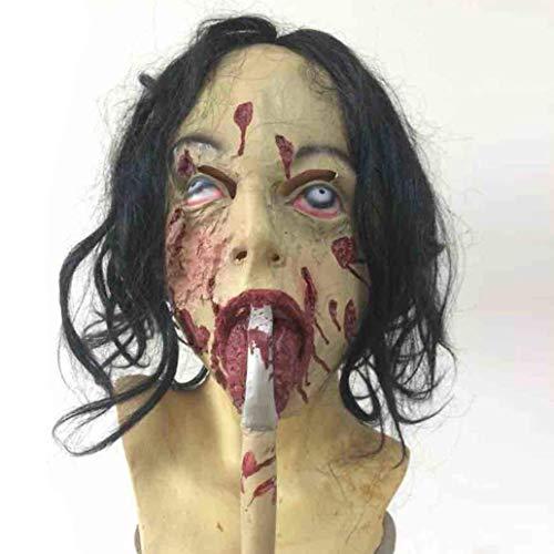 LW Máscara De Halloween Bloody Silicone, Horror Zombie