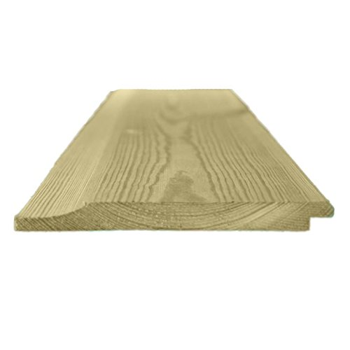 119mm x 12mm Thick Treated Wooden Shiplap Cladding Boards Various Lengths (20, 2.4m)