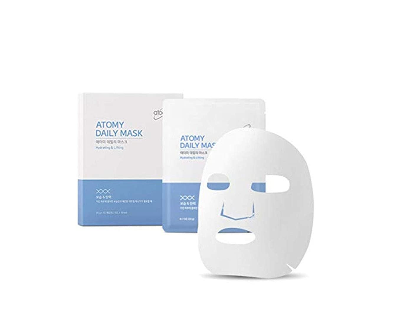 長方形キリスト記念日[NEW] Atomy Daily Mask Sheet 10 Pack- Hydrating & Lifting アトミ 自然由来の成分と4つの特許成分マスクパック(並行輸入品)