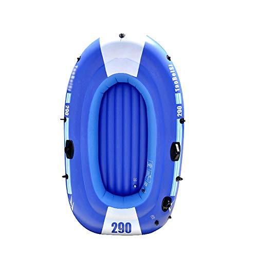 Tingeart Barco Inflable Kayak, Canoa Barco de Pesca Portátil Inflable En Bote Plegable De Goma Boat Bote de Goma PVC Azul 240x135cm