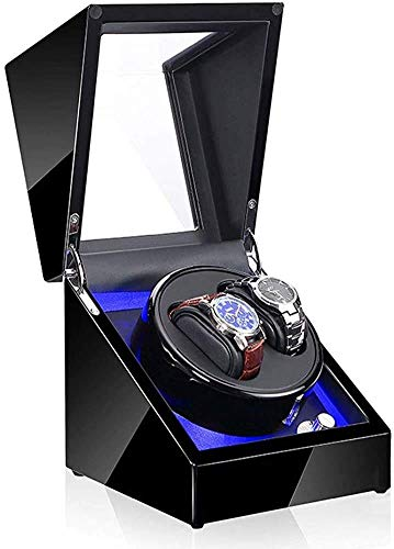 JHSHENGSHI Caja de almacenamiento para reloj, con 5 modos de ajuste, LED, caja de almacenamiento para relojes