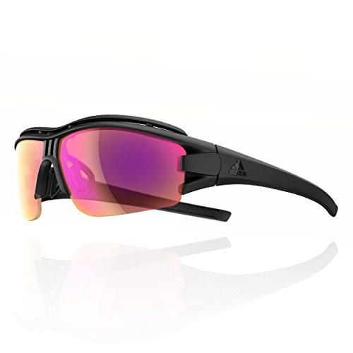 Adidas Brille evil eye halfrim pro ad07 - 9400 black matt LST Bright VARIO purple mirror (X-Small)