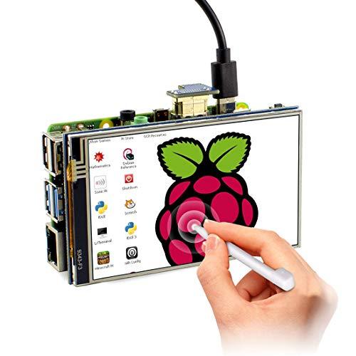 ELECROW 3.5インチ Raspberry Pi用モニター タッチスクリーン 小型 HDMI LCDディスプレイタッチパネル モニター