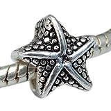 Andante-Stones plata Bead 'estrella de mar' antique - element bola de European Beads módulo pulsera + saquitos de