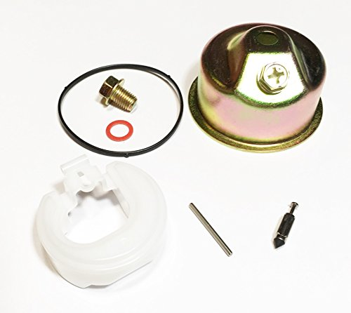 Sellerocity Carburetor Kit Compatible with Most Honda GX240 GX270 GX340 GX390 Needle Bowl Float Gasket Seal Pin (Needle Spring Not Included)