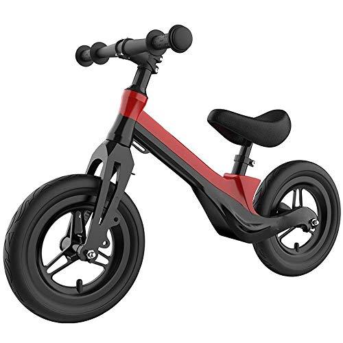 SZNWJ Ygqtbc Balance de Bicicletas sin Pedal de la Bicicleta Caminar con, Marco de aleación de magnesio, Manillar y Asiento Ajustables, for Las Edades de 2 a 6 años de Edad (Color : Black)