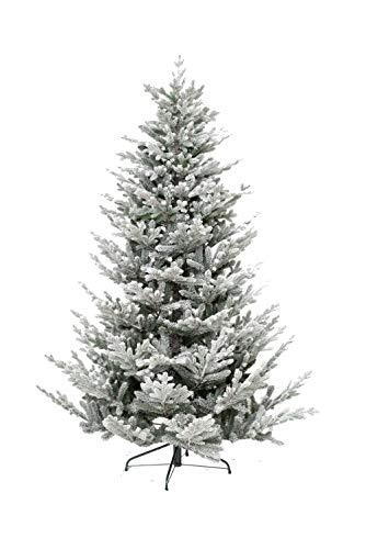 XONE Albero di Natale Nikolai Innevato 210 cm PE Effetto Real Touch + PVC | Pino Realistico Altissima qualità con Neve