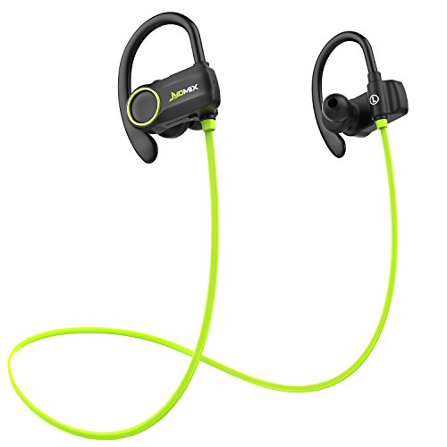 JYDMIX Bluetooth Headphones, Wireless Earbuds with Microphone, Sweatproof Sports Earphones for Running Workout, Headset with Soft Ear Hook, CVC 6.0 Noise Cancelling, HD Stereo Sound(Green)
