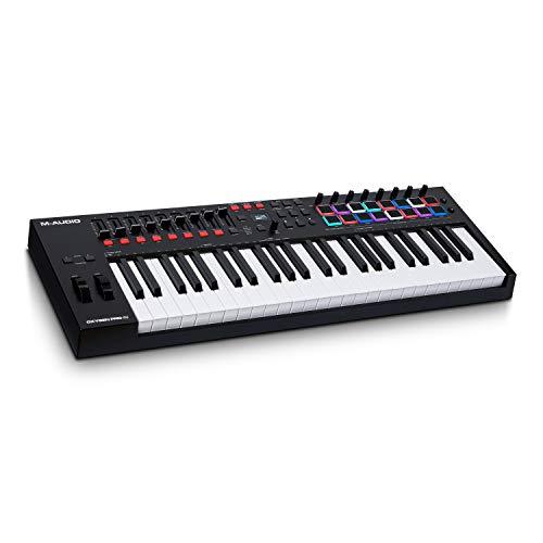 M-Audio Oxygen Pro 49 - Teclado controlador MIDI USB de 49 teclas con...