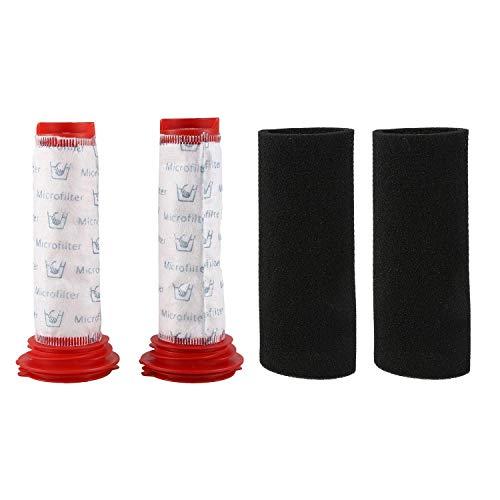 De Galen Repuesto de filtro de palo principal lavable + inserto de espuma para aspiradoras inalámbricas Athlet (2 de cada uno) accesorios de aspiradora