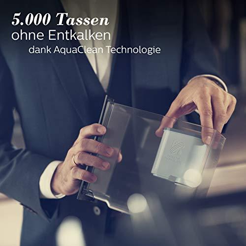 Saeco SM7683/10 Xelsis Kaffeevollautomat 15 Kaffeespezialitäten (Touchscreen, 6 Benutzerprofile), 18/8, Edelstahl/Schwarz - 10
