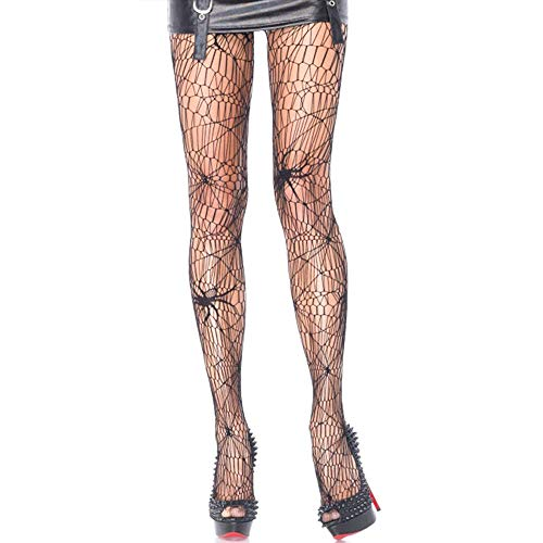Halloween Netzstrümpfe Frauen Spinnennetz Skelett Strumpfhose Hexe Kostüm Strumpfhosen Strümpfe (Spinne)