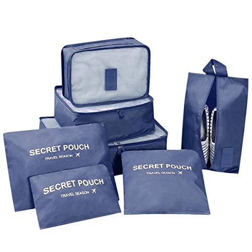 DoGeek Kleidertaschen Packing Cubes Satz von 7 Reise Kleidertaschen Verpackungswürfel organizer Ideal...