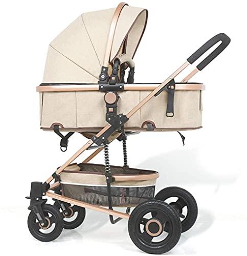 Cochecito de bebé plegable, sistema de viaje con canasta para bebés Anti-Shock Springs Bebé recién nacido Cochecito de bebé Ajustable Vista alta PRAM SISTEMA DE VIAJE PRAMA PRODUCTO CHRYCHAIR