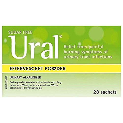 Ural Effervescent Powder 4G * 28 Sachets Urinary Alkalinizer Cystitis Relief