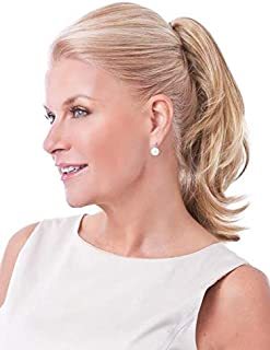 Pony Layered Flip Color Salt-n-Pepper - Toni Brattin Hairpieces Reversible Clip On Ponytail 14